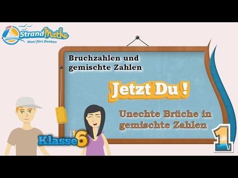Brüche und gemischte Zahlen || Bruchzahlen - Klasse 6 ☆ Übung 1 ...