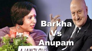 Barkha Dutt Vs Anupam Kher ,Telegraph National Debate 5th march 2016   Logic Vs Impulse