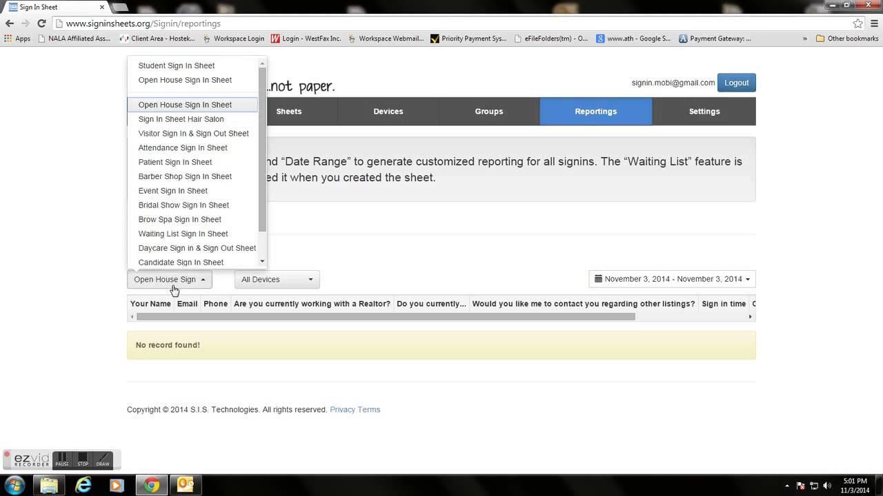Sign In Sheet App - YouTube