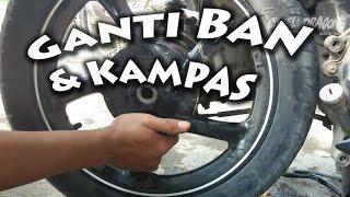 Cara Mengganti Kampas dan Ban Belakang Motor Matic