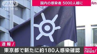 東京都で新たに180人以上が感染 国内感染5000人超(20/04/09)
