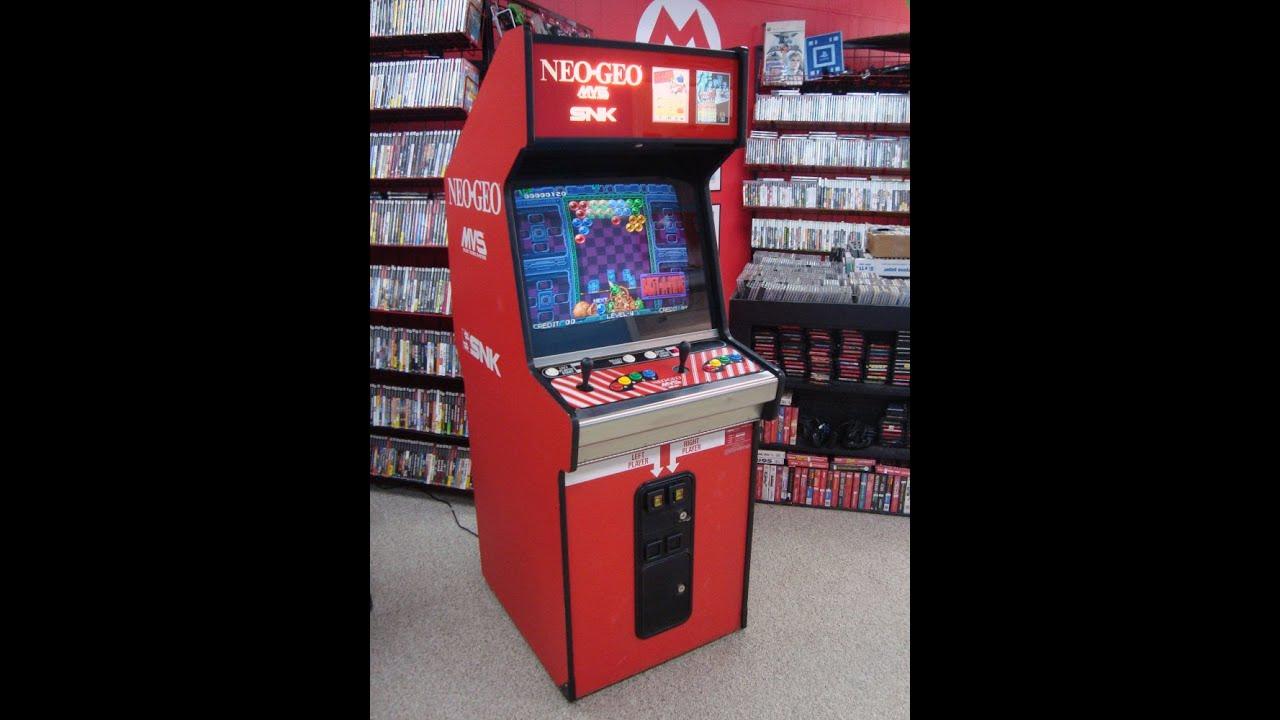 SNK Neo Geo 2 Slot MVS-2 Cabinet! Cool alternate control panel - YouTube