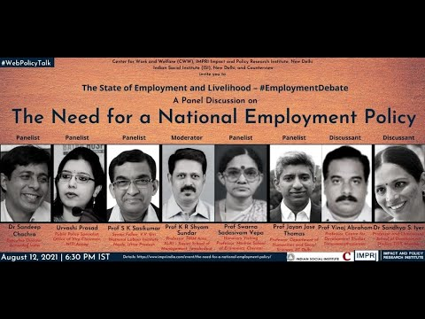 #EmploymentDebate   Panel Discussion   The Need for a National Employment Policy