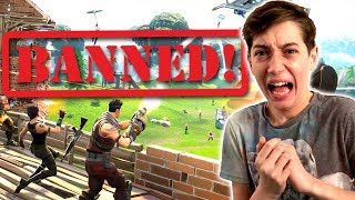 I GOT BANNED ON FORTNITE FOR HACKING!!