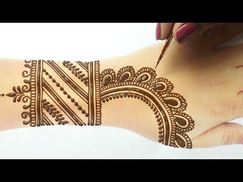 ये  राखी 2020 स्पेशल मेहँदी डिज़ाइन आपके हाथो को और सूंदर बना देगी- Easy Backhand Arabic Henna Mehndi