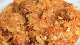 видео Тушёная капуста с сосисками - вкусное и простое блюдо. Рецепты с фото для мультиварок Редмонд и Поларис.