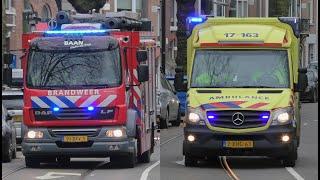 PRIO TS 17-0631 Brandweer Rotterdam & Ambulance 17-163 naar Keukenbrand Mathenesserweg Rotterdam