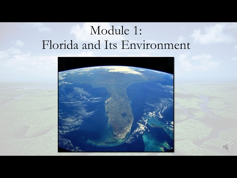 Module 1: Florida and Its Environment