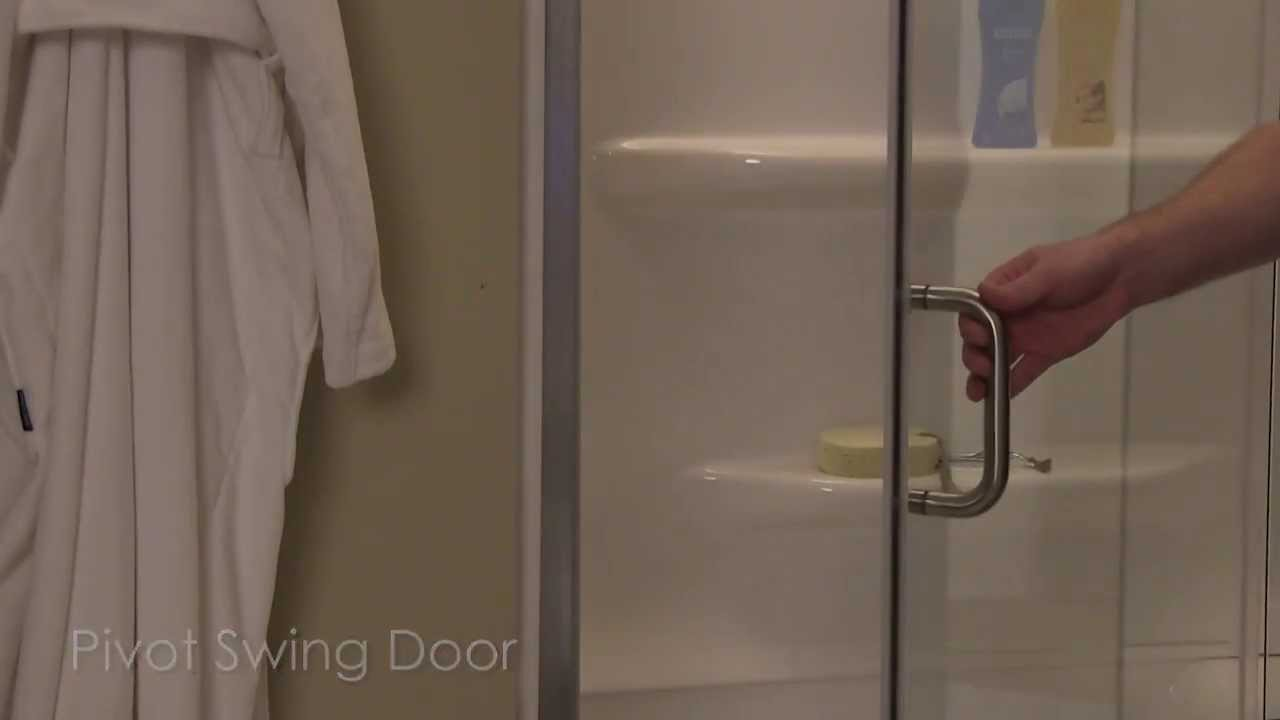 Cove Frameless Swing Pivot Shower Door And Panel By