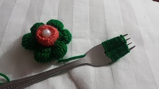 wow beautiful amazing trick wool flower hand embroidery #102