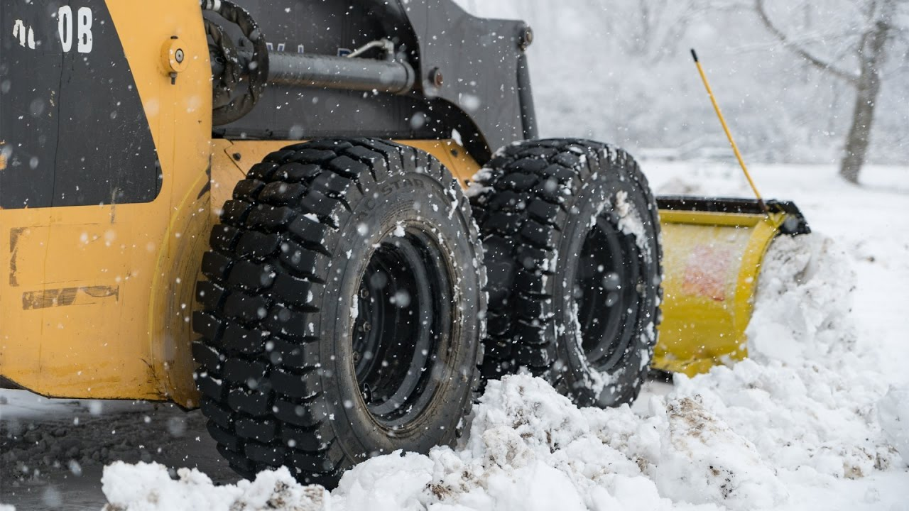 Best Snow Tires >> Winter Skid Steer Tires - Trac Star ND - YouTube