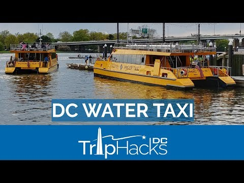 How To Ride The WATER TAXI Between DC And Alexandria