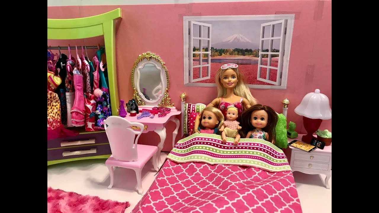 Barbie Bedroom Morning Routine with KIDS!! - YouTube