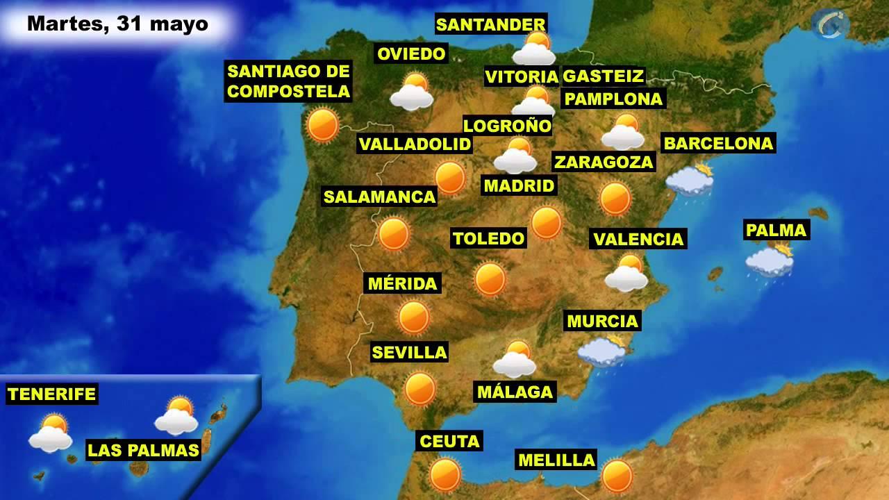 El tiempo en espa a por ccaa el martes 31 de mayo y el - Tiempo en paracuellos del jarama ...