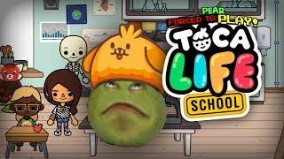 Pear FORCED to Play - Toca Life: School