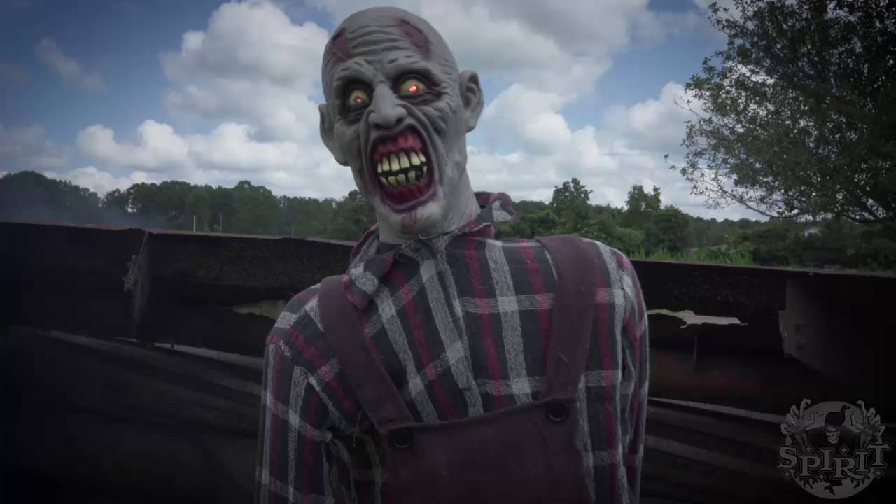 zombie farmer animatronic spirit halloween