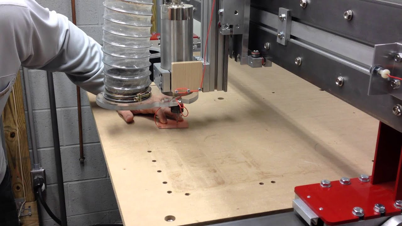 CNC Router Z Touch Probe Demonstration - YouTube