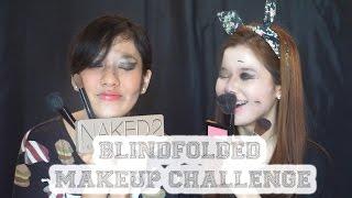 BLINDFOLDED Makeup Challenge [VELA x ELIN] INDONESIA