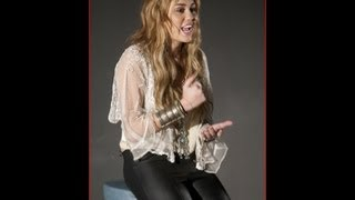 Miley Cyrus In Her Skin Tight Leather Pants