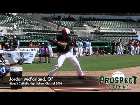 Jordan McFarland, OF, Gibault Catholic High School, Swing Mechanics at 200 fps