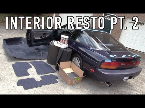 240SX Interior Restoration Part 2: Installing New Carpet & Sound Deadening!
