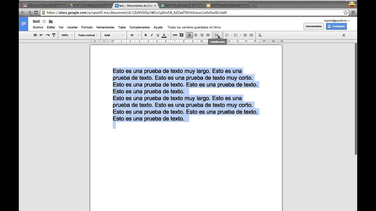 Como cambiar el interlineado entre lineas o parrafos en for En word cual es el interlineado