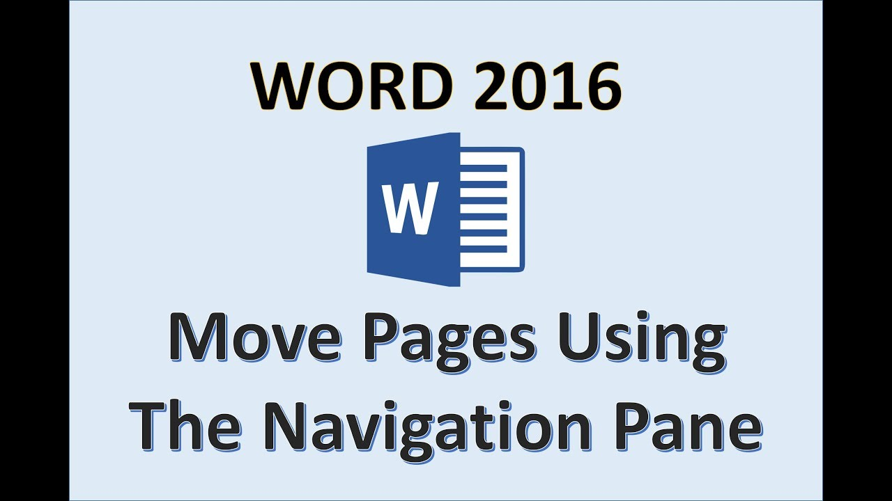 Word 2016 - Move Pages - How To Rearrange Reorder Arrange A Page In  Microsoft Office 365 - Nav Pane