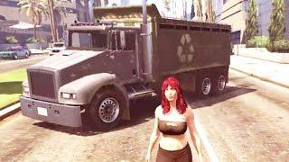 GTA 5 CADA VEZ MAIS DOIDO : Você já viu um caminhão louco que anda sozinho e persegue o dono ?