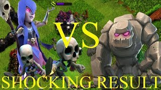 GOLEM VS WITCH | WHO WILL WIN? | CLASH OF CLANS