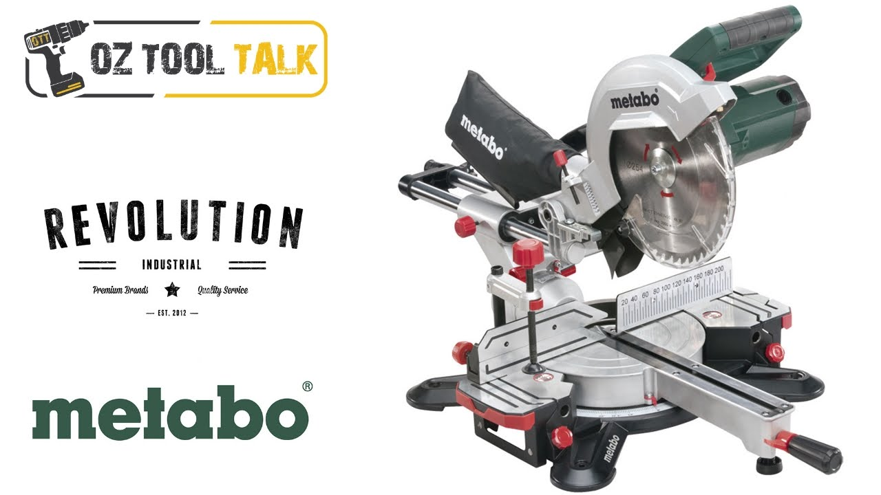 "metabo 10"" sliding mitre saw - kgs 254 m - youtube"