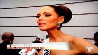 Monic Derrama una Lágrimas después del resultado final de Miss Universo 2013