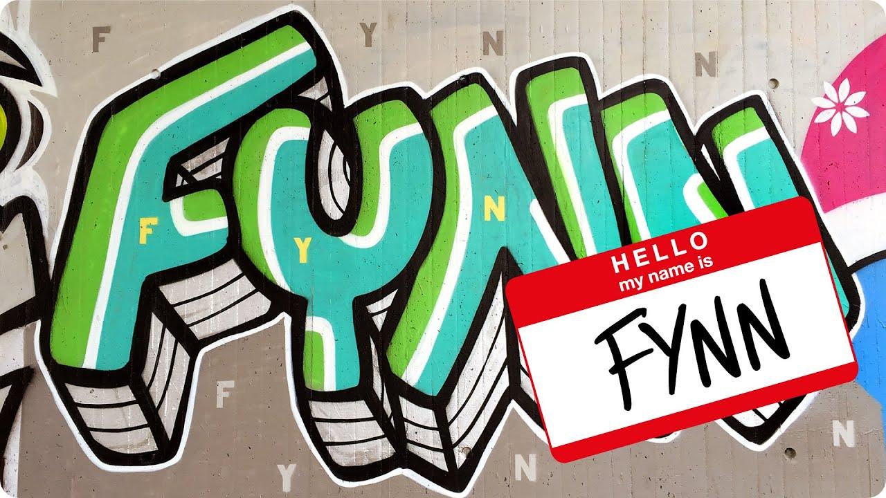 Graffiti hello my name is fynn 001