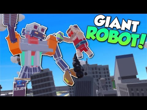 GIANT ROBOT ATTACKS CITY!? - Tiny Town VR Gameplay - HTC Vive City Building & Zombies Apocalypse!