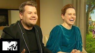 Daisy Ridley And James Corden Talk STAR WARS Cameo | MTV Movies