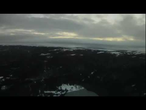 Helicopter over Punta Arenas - Pilot View