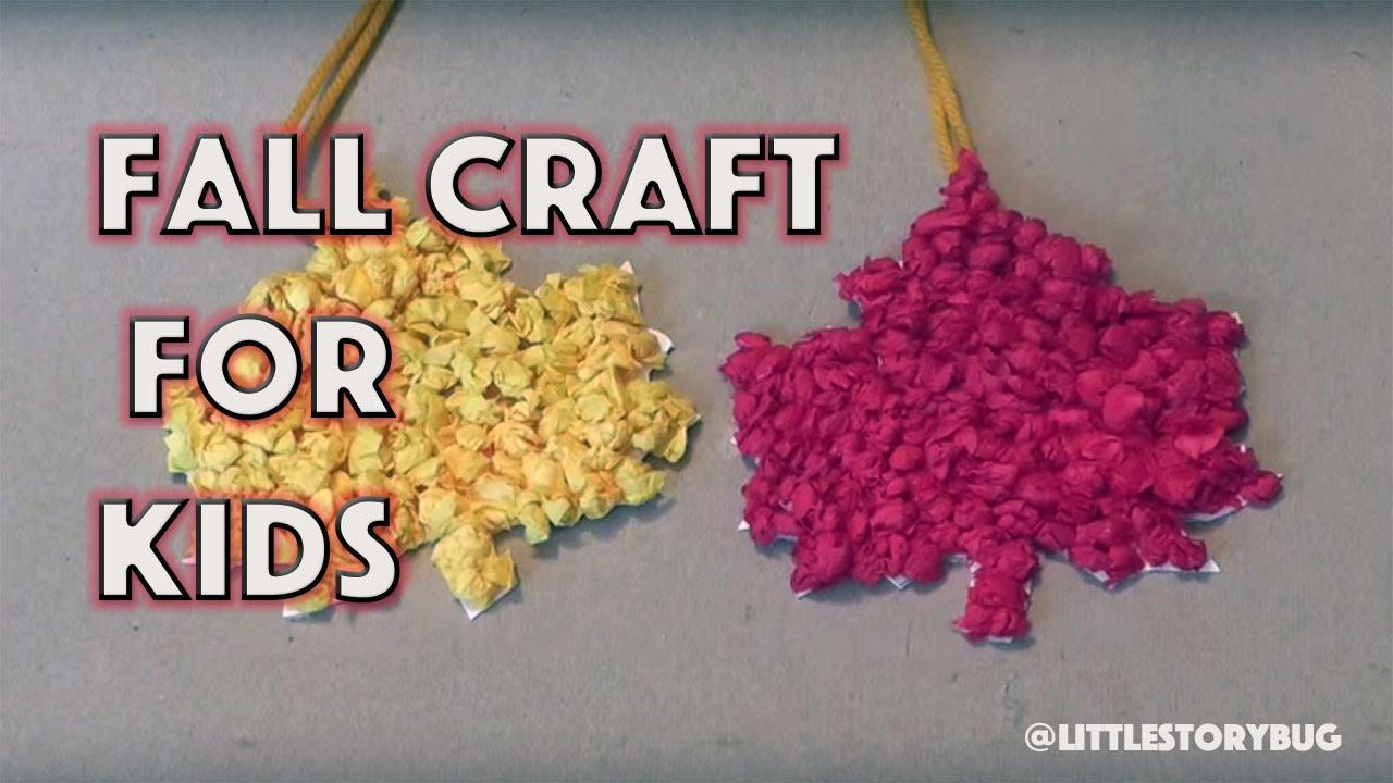 Fall Craft For Kids Autumn Leaves Littlestorybug Youtube