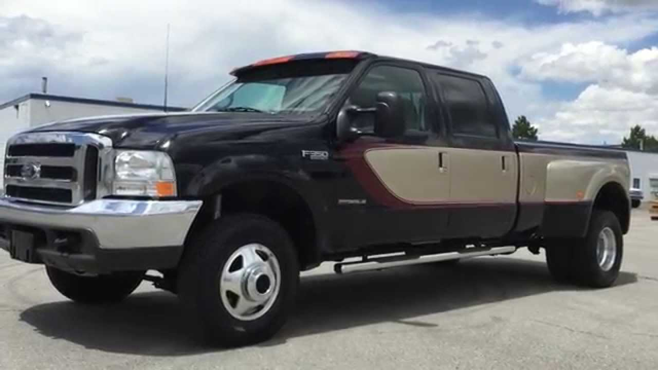 Com 2000 ford f350 crew lariat le 125k 4x4 7 3 powerstroke turbo diesel for sale