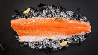 Adivina: ¿Cuántas horas tarden un salmón recién capturado en Noruega llega al cliente en China?