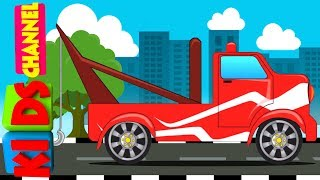 Kids Channel   tow truck   video for kids   learn vehicles   cartoon cars
