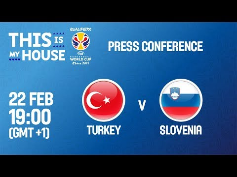 LIVE 🔴 - Turkey v Slovenia - Press Conference - FIBA Basketball World Cup 2019 European Qualifiers