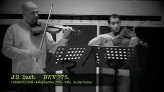 Invention No. 4  BWV 775, in D minor.  J.S. BACH   (Violin and Viola).