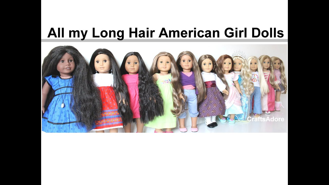 American Girl Doll Disney Hairstyles : All my long hair american girl dolls spring hd