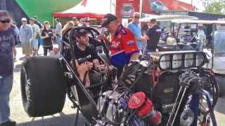 Shane Van Gisbergen fires up Gary Phillips Top Alcohol Funny Car