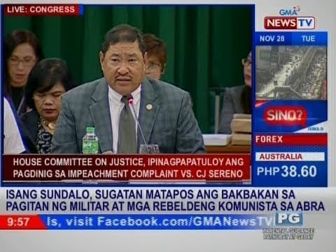 House Committee on Justice, ipinagpapatuloy ang pagdinig sa impeachment complaint vs. CJ Sereno