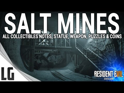 Resident Evil 7 - Salt Mines Collectibles Guide (Items, Weapons, Statues, Notes, Antique Coins)