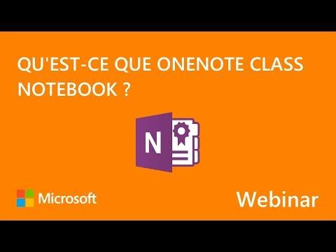 Qu'est-ce que OneNote Class Notebook ?
