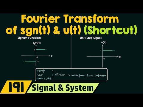 Fourier Transform Of Sgn(t) & U(t) [Important Shortcut]