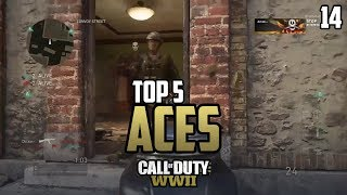 COD WWII: TOP 5 ACES OF THE WEEK #14 - Call of Duty World War 2