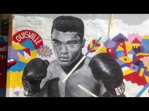 NYC Graffiti Muhammad Ali Mural and other Street art in Brooklyn/Williamsburg