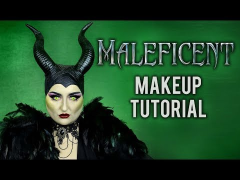 MALEFICENT | HALLOWEEN COSTUME MAKEUP TUTORIAL DISNEY VILLAIN COLLAB W/ ATLEEEEY